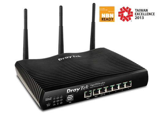 Dual Gigabit Ethernet WAN, port for failover, load-balancing