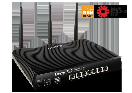 Dual Gigabit Ethernet WAN, port for failover, load-balancing